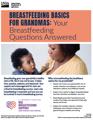 Breastfeeding Basics for Grandmas PDF Thumbnail
